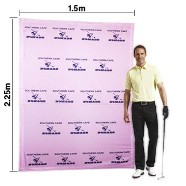 Banner walls manufactured in full colour is fully collapsible and comes with a carry bag. Works great as a selfie wall.