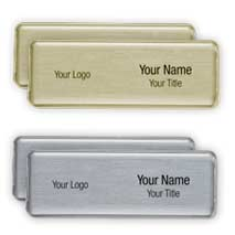 Magnetic name badges manufactured by Stitched flags and banners