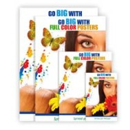 Poster sizes printed by flags and banners at a low price