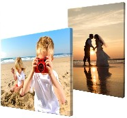 Canvas on wooden block mount printed in full colour and manufactured in different sizes.