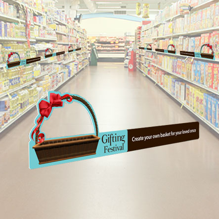 Shelf Defenders for in-store point of sale to attract attention to your shelf and