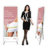 X Banner full colour branded display manufactured by Flag Banner