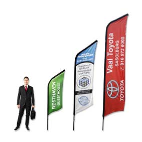 Curved Banners manufactured by Stitched Flags and Banners sizes 2m, 3m and 4m. Printed in full colour at affordable prices.